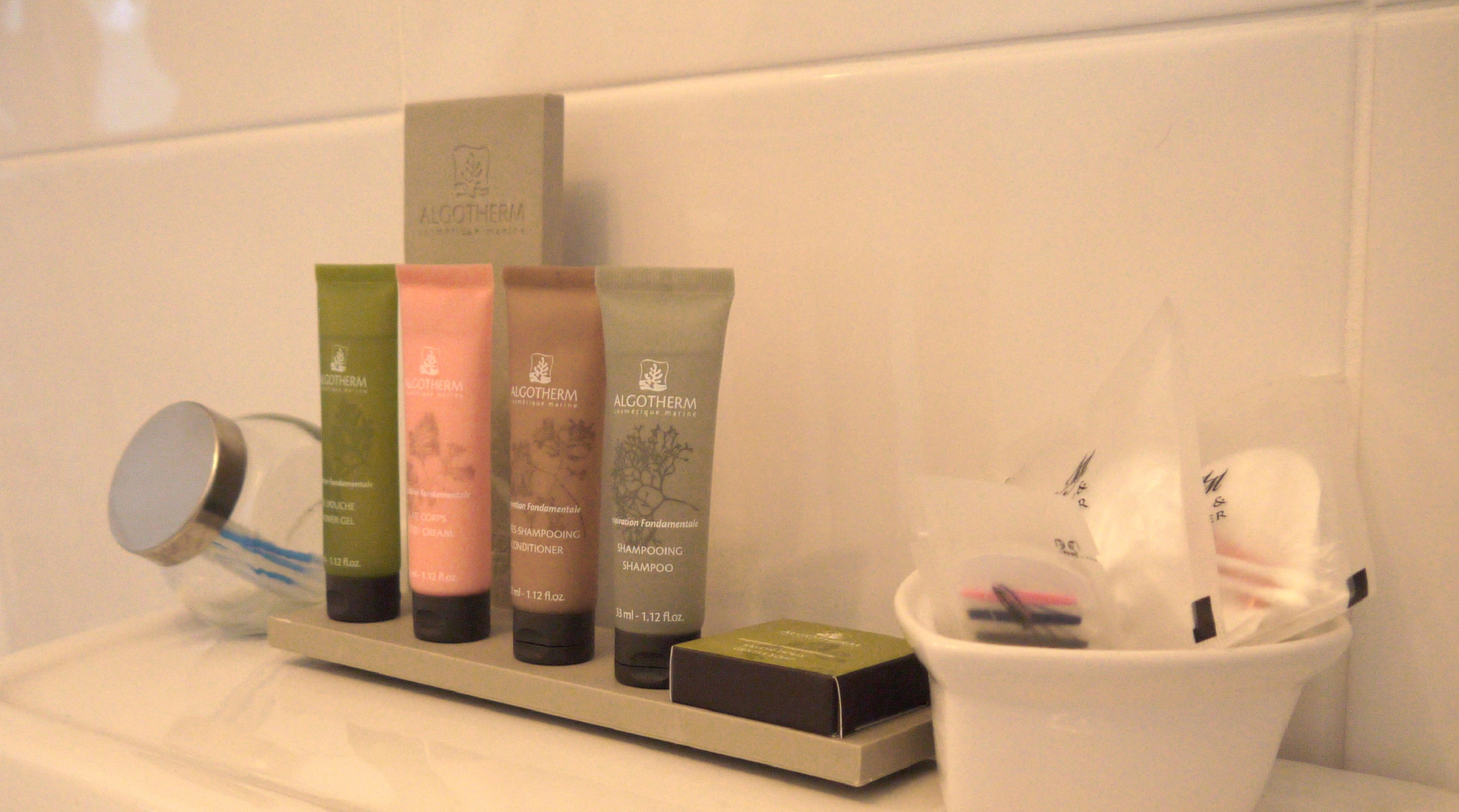 photo the toiletries selection that come with the room